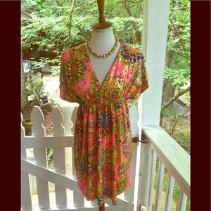India Boutique Bright Golden Accent Dress OSFM